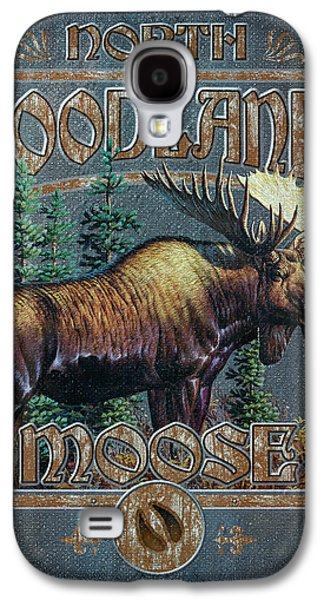 Cynthie Fisher Galaxy S4 Cases - Woodlands Moose Sign Galaxy S4 Case by JQ Licensing