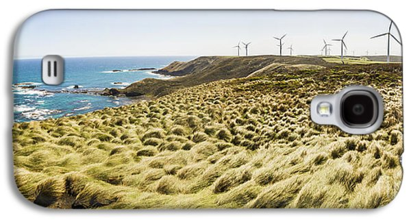 Woolnorth Wind Farm And Ocean Landscape Tasmania Galaxy S4 Case by Jorgo Photography - Wall Art Gallery