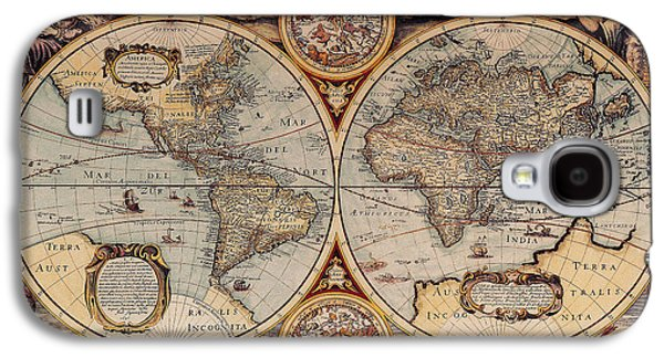 Best Sellers -  - Ancient Galaxy S4 Cases - World Map 1636 Galaxy S4 Case by Photo Researchers