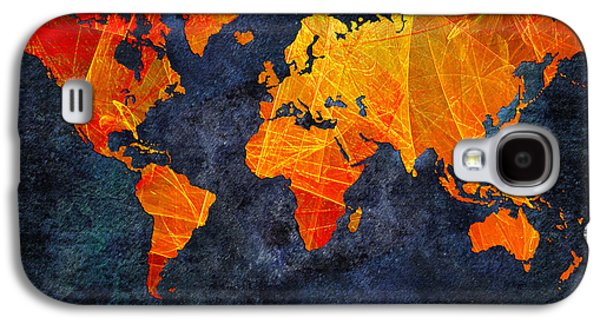 World Map - Elegance Of The Sun - Fractal - Abstract - Digital Art 2 Galaxy S4 Case by Andee Design