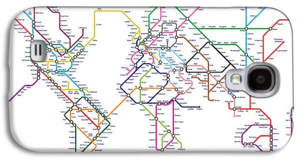 World Metro Tube Map Galaxy S4 Case by Michael Tompsett
