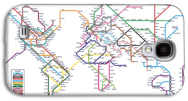 World Metro Tube Subway Map Galaxy S4 Case by Michael Tompsett