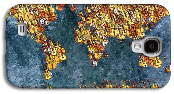 America The Continent Mixed Media Galaxy S4 Cases - World Music Galaxy S4 Case by Daniel Janda