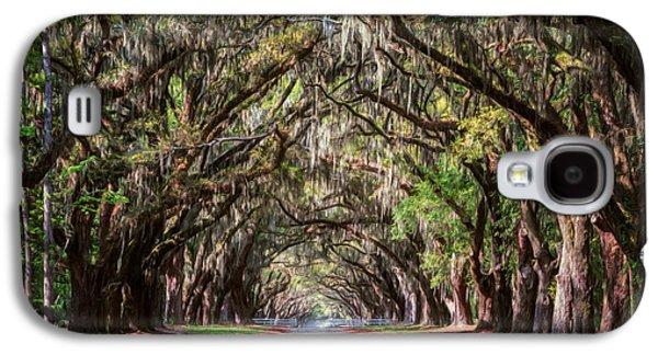 Landmarks Photographs Galaxy S4 Cases - Wormsloe Plantation Oaks Galaxy S4 Case by Joan Carroll