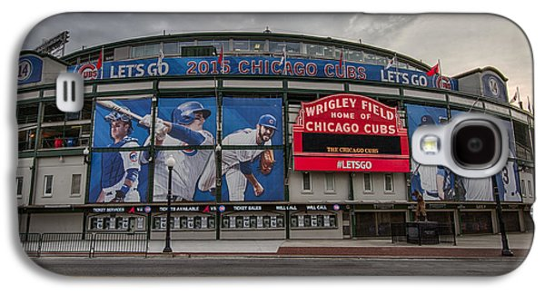 Sports Photographs Galaxy S4 Cases - Wrigley Field Chicago Cubs Galaxy S4 Case by Mike Burgquist