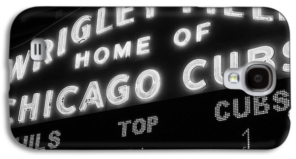 Wrigley Field Sign Black And White Picture Galaxy S4 Case by Paul Velgos