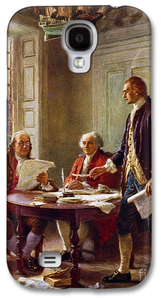 Writing The Declaration Of Independence, 1776, Galaxy S4 Case by Leon Gerome Ferris
