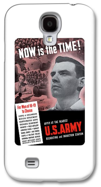 Army Mixed Media Galaxy S4 Cases - WW2 Army Recruiting Poster Galaxy S4 Case by War Is Hell Store