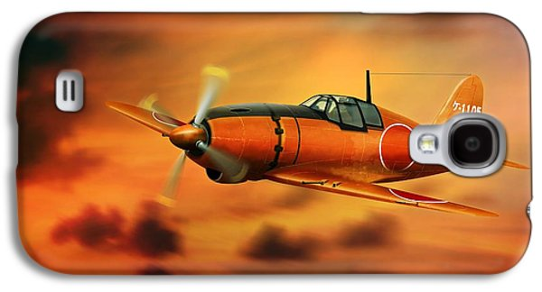 Will Power Galaxy S4 Cases - WW2 Imperial Japanese Fighter J2M3 Raiden Galaxy S4 Case by John Wills
