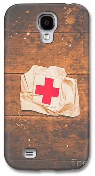 Ww2 Nurse Cap Lying On Wooden Floor Galaxy S4 Case by Jorgo Photography - Wall Art Gallery