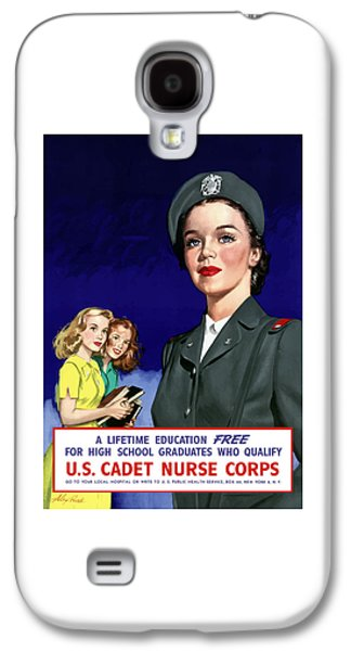Government Mixed Media Galaxy S4 Cases - WW2 US Cadet Nurse Corps Galaxy S4 Case by War Is Hell Store