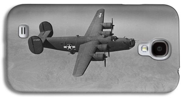 Jet Photographs Galaxy S4 Cases - WWII US Aircraft In Flight Galaxy S4 Case by American School