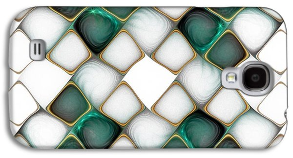 Abstract Digital Digital Galaxy S4 Cases - X Marks the Spot Galaxy S4 Case by Amanda Moore