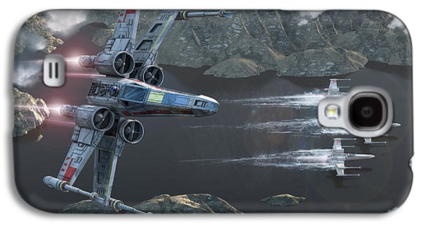 X-wing Along The River Galaxy S4 Case by Kurt Miller