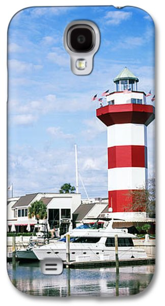 Yachts At A Harbor With Lighthouse Galaxy S4 Case by Panoramic Images