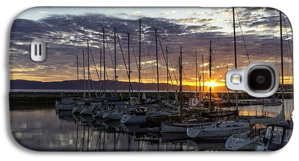 Abstract Digital Pastels Galaxy S4 Cases - Yachts at Sunset H b Galaxy S4 Case by Gert J Rheeders