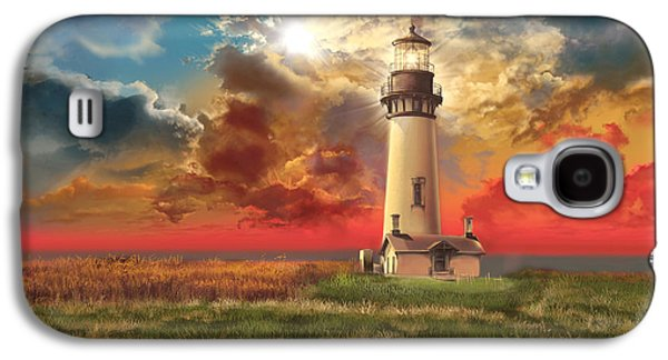 Sun Galaxy S4 Cases - Yaquina Head Lighthouse Galaxy S4 Case by MB Art factory