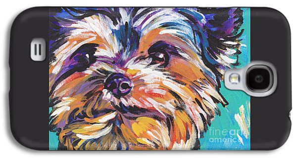 Dog Paintings Galaxy S4 Cases - Yay Yorkie  Galaxy S4 Case by Lea