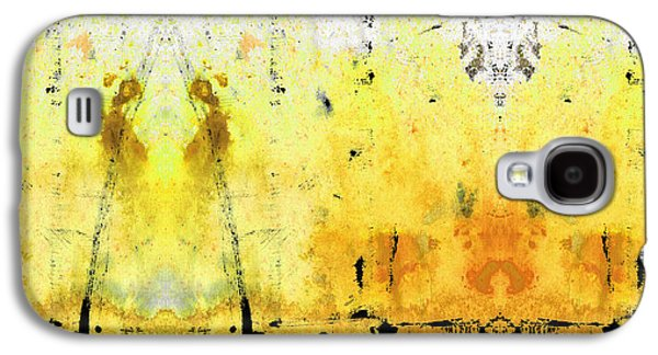 Sun Galaxy S4 Cases - Yellow Abstract Art - Good Vibrations - By Sharon Cummings Galaxy S4 Case by Sharon Cummings
