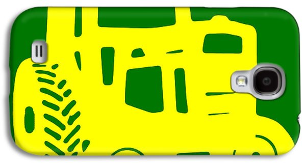 Machinery Galaxy S4 Cases - Yellow and Green Emblem Design Galaxy S4 Case by Edward Fielding