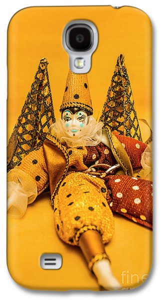 Yellow Carnival Clown Doll Galaxy S4 Case by Jorgo Photography - Wall Art Gallery
