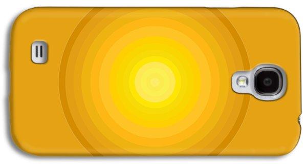 Yellow Circles Galaxy S4 Case by Frank Tschakert