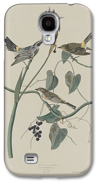 Yellow-crown Warbler Galaxy S4 Case by John James Audubon