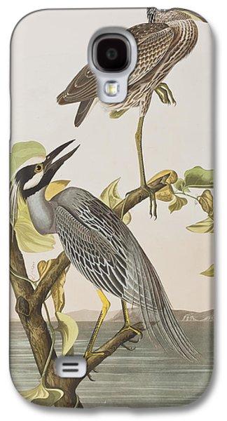 Yellow Crowned Heron Galaxy S4 Case by John James Audubon