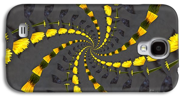 Recently Sold -  - Abstract Digital Photographs Galaxy S4 Cases - Yellow Daisy Spin Wheel  Galaxy S4 Case by Debra Martz