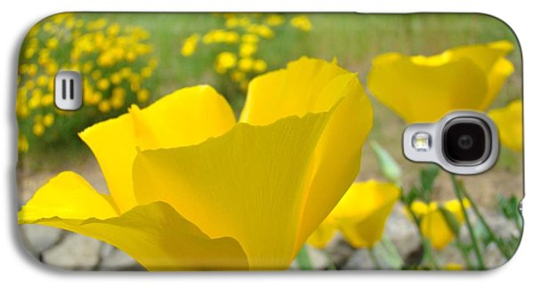 Recently Sold -  - Landscapes Photographs Galaxy S4 Cases - Yellow Poppy Flower Meadow Landscape art prints Baslee Troutman Galaxy S4 Case by Baslee Troutman