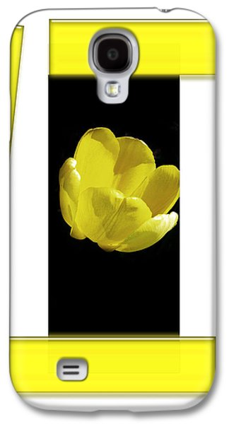 Drawing Galaxy S4 Cases - Yellow Tulip 3 Of 3 Galaxy S4 Case by Tina M Wenger