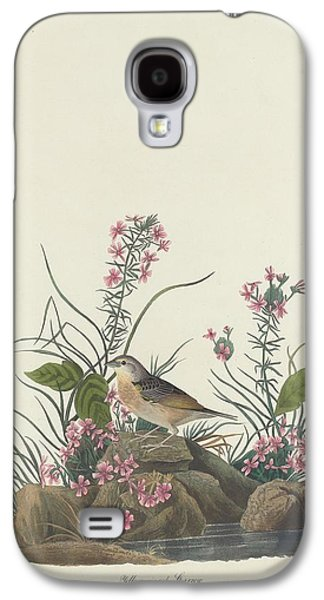 Yellow-winged Sparrow Galaxy S4 Case by John James Audubon