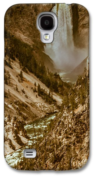 Surreal Landscape Galaxy S4 Cases - Yellowstone Lower Falls Galaxy S4 Case by Robert Bales
