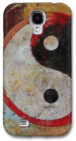 Yang Galaxy S4 Cases - Yin Yang Dragon Galaxy S4 Case by Michael Creese