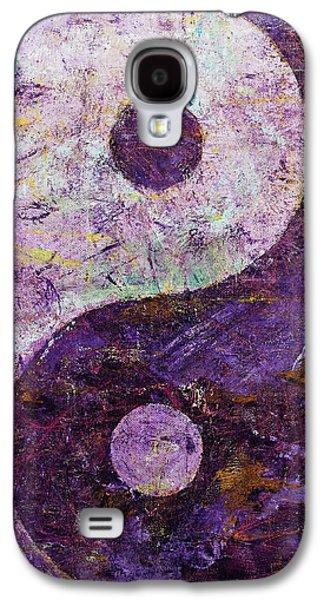 Yang Galaxy S4 Cases - Purple Yin Yang Galaxy S4 Case by Michael Creese