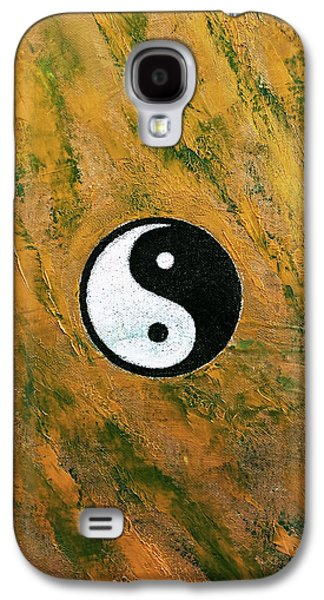 Yang Galaxy S4 Cases - Yin Yang Stone Galaxy S4 Case by Michael Creese