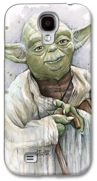 Master Paintings Galaxy S4 Cases - Yoda Galaxy S4 Case by Olga Shvartsur