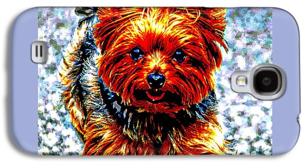 Puppies Digital Galaxy S4 Cases - Yorkie Galaxy S4 Case by Don Barrett