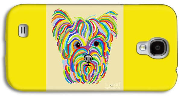 Puppies Galaxy S4 Cases - Yorkshire Terrier ... Yorkie Galaxy S4 Case by Eloise Schneider