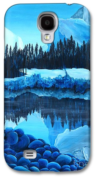 El Capitan Paintings Galaxy S4 Cases - Yosemite in Blue Galaxy S4 Case by Madelaine Kobe