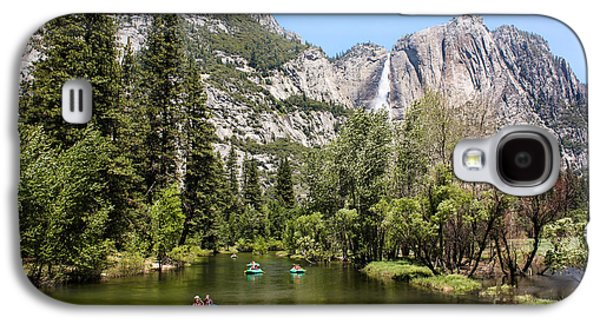 Coasting Galaxy S4 Cases - Yosemite rafting Galaxy S4 Case by Ava Peterson