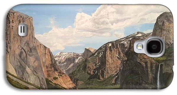 El Capitan Paintings Galaxy S4 Cases - Yosemite Valley Galaxy S4 Case by Scott Donovan