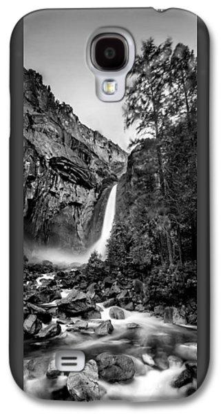 Yosemite Waterfall Bw Galaxy S4 Case by Az Jackson