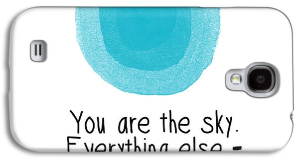 Sky Digital Art Galaxy S4 Cases - You Are The Sky Galaxy S4 Case by Linda Woods