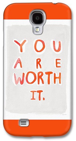 Kids Sports Art Galaxy S4 Cases - You Are Worth It Galaxy S4 Case by Linda Woods