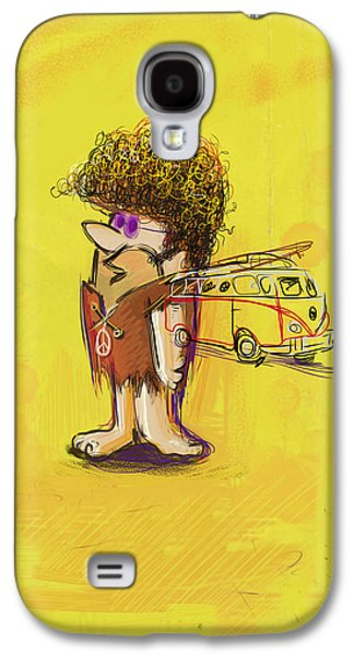 Character Portraits Mixed Media Galaxy S4 Cases - Young Barney Galaxy S4 Case by Russell Pierce
