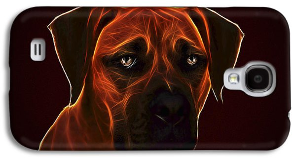 Dogs Digital Art Galaxy S4 Cases - Young Bullmastiff Galaxy S4 Case by Alexey Bazhan