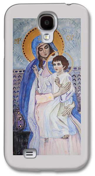Greek Icon Paintings Galaxy S4 Cases - Young Christs Blessing Galaxy S4 Case by Olga Dytyniak