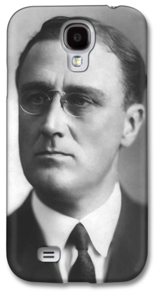 Democrat Paintings Galaxy S4 Cases - Young Franklin Delano Roosevelt Galaxy S4 Case by War Is Hell Store