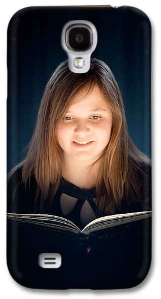 Dress Photographs Galaxy S4 Cases - Young girl reading a book Galaxy S4 Case by Johan Swanepoel